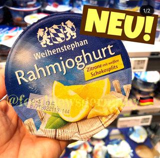 Weihenstephan Rahmjoghurt Zitrone weiße Schokosplits