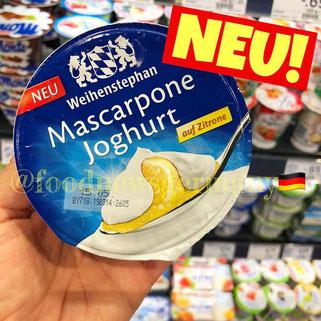 Weihenstephan Mascarpone Joghurt auf Zitrone
