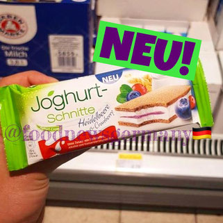 Joghurt Schnitte Heidelbeere & Cranberry