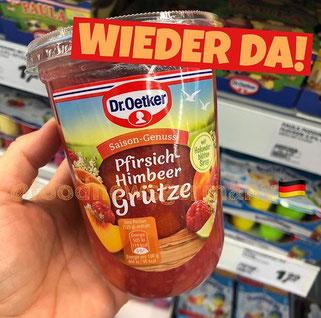 Dr. Oetker Pfirsich-Himbeer Grütze
