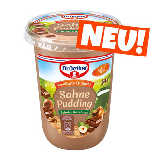 Dr.Oetker Sahne Pudding Schoko Haselnuss