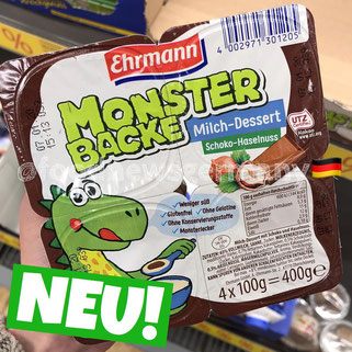 Ehrmann Monster Backe Schoko-Haselnuss