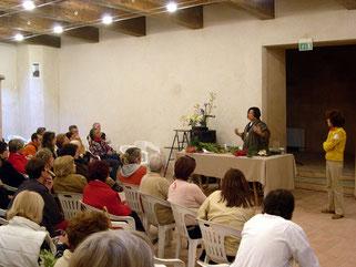 Dimostrazione di Ikebana tenuta da Yuko Fujimoto