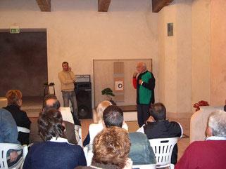 Allestimento tokonoma a cura di Giovanni Genotti, con Gaetano Settembrini