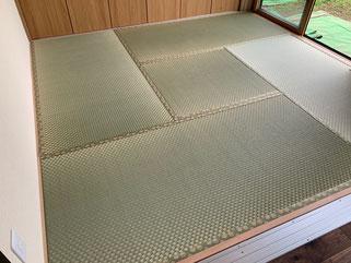 新畳 熊本産市松柄表