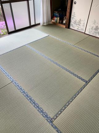 畳替えできれいになった和室