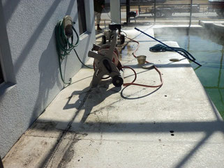 pool deck pressure washing