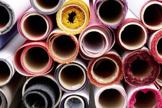 Bucheinbandgewebe, Buchbinderleinen, farbenfroh