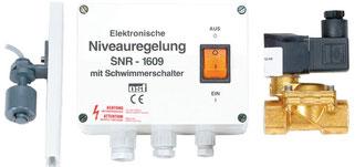 mechanischer Niveauregler mit Schwimmerschalter und Magnetventil osf
