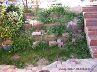 Wasserfall selber bauen Garten