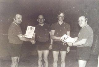 v.l.: Hans Michels, Karl-Heinz Schmitt, Richard Meiers und Alois Reinert