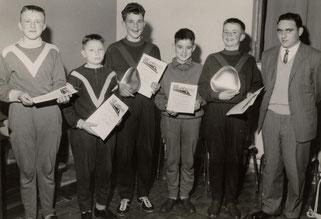 v.l.: Karl-Peter Friedrich, Hubert Schiffmann, Rudi Friedrich, Berthold Meiers, Alois Reinert und Fritz Bersin