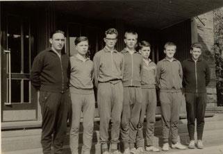 v.l.: Fritz Bersin, Hubert Schiffmann, Rudi Friedrich, Karl-Peter Friedrich, Berthold Meiers, Alois Reinert und Helmut Friedrich