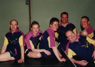 v.l.: Heinz Zimmer, Richard Meisres, Ignat Mai, Norbert Theobald,  Joachim Helfen und Armin Görg