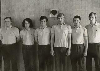 v.l.: Alois Reinert, Horst Schmitt, Karl-Heinz Schmitt, Hans-Werner Ursel, Gerhard Palm und Richard Meiers