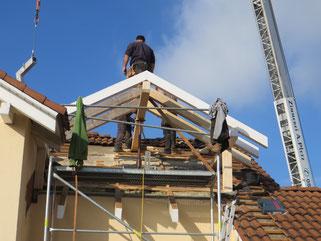 Dachgaube beim Hausbau