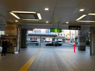 本川越駅改札出口画像