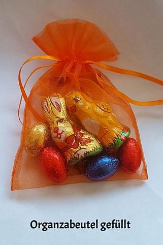 gefüllte Organzabeutel als Geschenk für Ostern