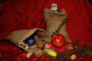 Nikolaussäcken als Geschenk für die Weihnachtsfeier