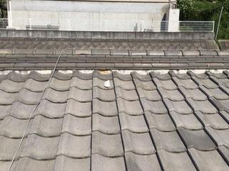 枚方市,屋根工事,のし瓦,冠瓦,雨漏れ,日新火災,全労災
