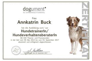 dogument Annkatrin Buck Hundetrainerin Hundeverhaltensberaterin