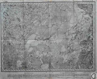 Stabskarte 1914 Gouvernement Witebsk, Pskow, Marienhausen, Vilaka, Grenzregion Livland, heute Lettland, Baltikum