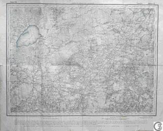 Stabskarte Gouvernement Witebsk, Ludzen, Ludza, Ljuzin, Grenzregion Livland, Kurland, heute Lettland, Baltikum