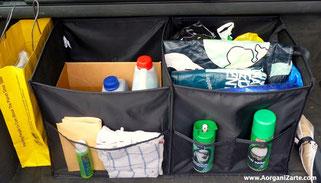 Bolsa organizadora para el maletero con bandas de velcro para inmovilizarla - www.AorganiZarte.com