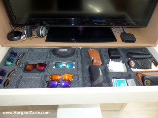 Guarda todas tus gafas bien colocadas en un cajón - AorganiZarte