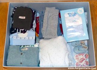 Organiza la ropa del bebé por tallas - www.AorganiZarte.com