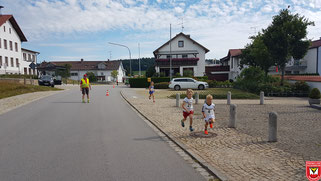 Die Laufstrecke parallel zur Oberhoferstraße