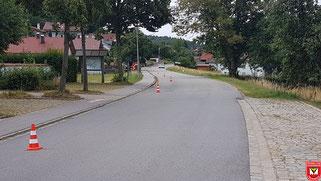 Die Laufstreke parallel zur Oberhoferstraße