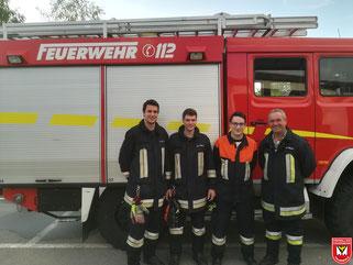 Die vier Teilnehmer aus Falkenfels