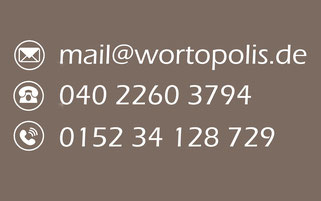 Texterin gesucht? Wortopolis Textbüro Kontakt