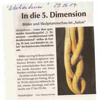 """Pressemitteilung Ausstellung """"5. Dimension"""""""