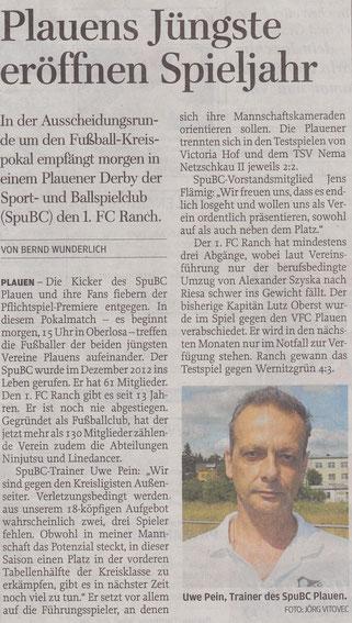 Freie Presse vom 26.07.2013