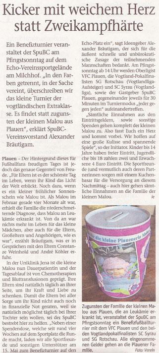 Vogtland-Anzeiger vom 09.05.2016
