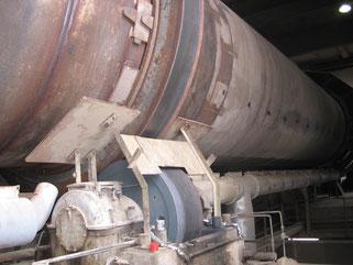 Anwendung Molytrop Trockenschmierstoffen an Drehrohren
