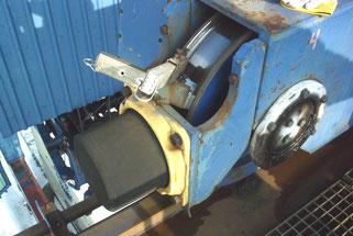 Anwendung Molytrop Trockenschmierstoffe Spurkranzschmierung an Containerkran
