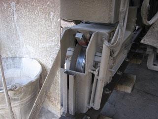 Anwendung Molytrop Haftblock 10035 an Antriebsrad