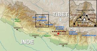 trekking map annapurna