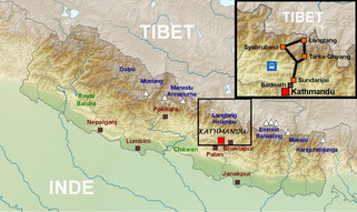 trek langtang - trekking nepal - ganja la