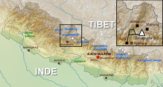 trekking map annapurna base camp