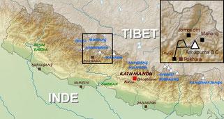 trekking map annapurna base camp