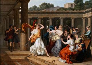 Odysseus entdeckt Achilles unter den Töchtern des Lycomedes