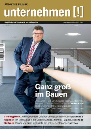 Unternehmen[!]- Magazin mit Mann 18