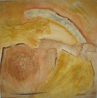 Nr. 2008-HO-007, 60 x 60 cm, Eitempera und Pigmente, Marmormehl auf MDF