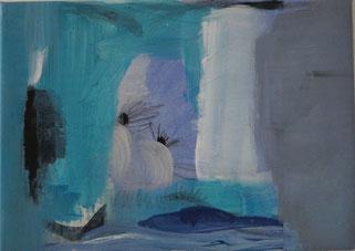 Nr. 2007-HO-015, 40 x 60 cm, Acryl auf Papier, auf Leinwand aufgezogen