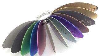 Titanbrille, Farben, viel, bunt, individuell