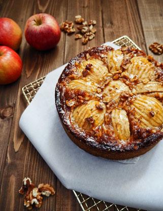 Apfelkuchen mit Nusscrunch